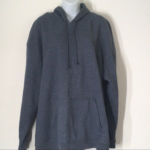Mens Gray Thick Pullover Hoodie Size X Large